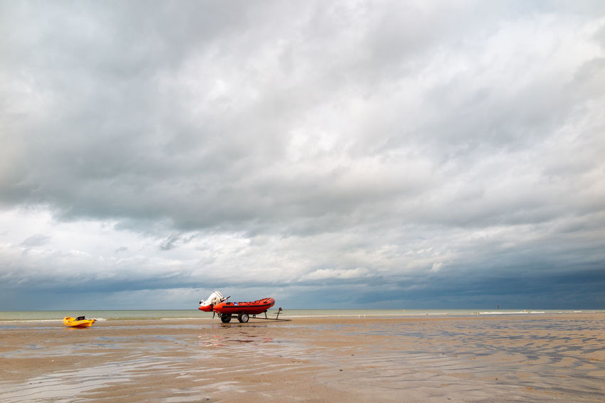 Beach Beauty In Nature Cloud - Sky Day Lifeguard  Nature No People North Sea Outdoors Sand Scenics Sea Sea And Sky Sky Tranquility Water Waves