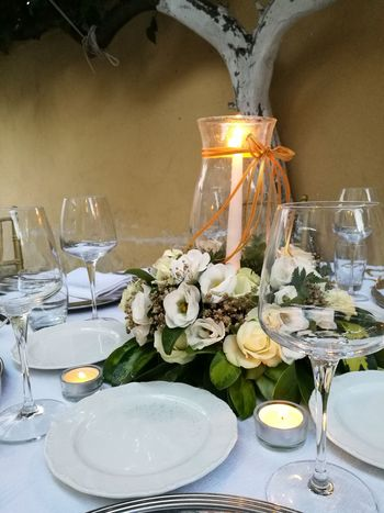 50thanniversary  Glass - Material Food And Drink Candle Plate Table Group Of Objects Freshness Flower Arrangement Candlelight Illuminated Food Jobtime Catering To The Homeless Beautiful Organized Wine Moments Art Is Everywhere Wine Not