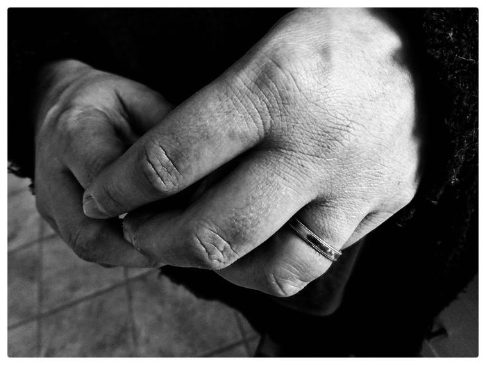 Close-up of person hands