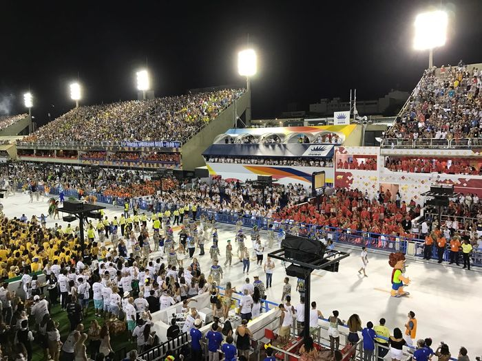 Desfile Das Campeãs Carnaval Carioca 2017 Large Group Of People Crowd Illuminated Night People Men Sky Architecture Outdoors Adults Only Adult
