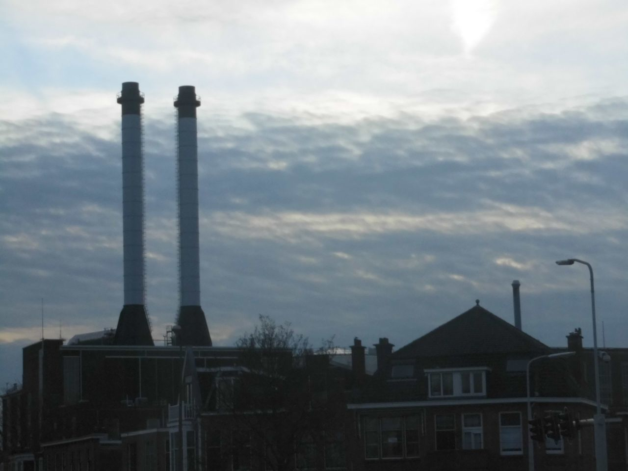 Silhouette Of Industry At Dusk