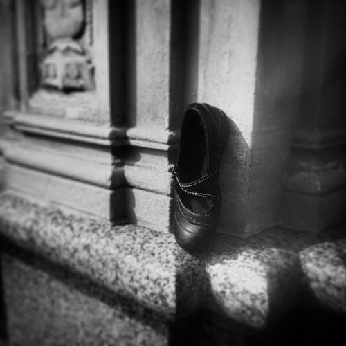 And so, the Prince decreed that the ballet flat should be carried to all corners of his father's kingdom... Shoe Abandoned Monochrome