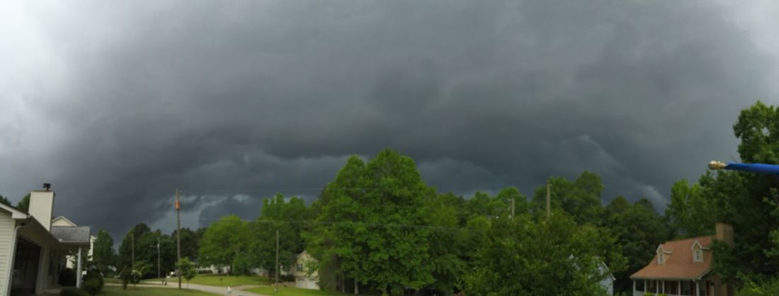 A panoramic view looking into the oncoming thunderstorm. Storm Clouds Thunderstorm Clouds WeatherPro: Your Perfect Weather Shot Panorama Panoramic