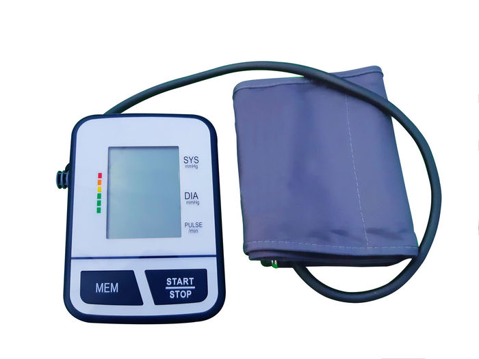 Blood Pressure Monitor White Background Technology Digital Display