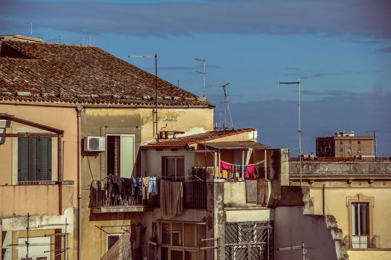 Architecture Balcony Balcony View Building Exterior Built Structure City Day No People Outdoors Sicily Siracusa Siracusa Sicily Sky Street Vacations
