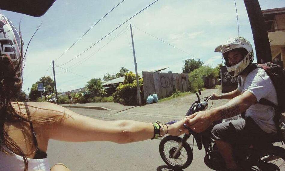 Dt Balade Jusqu'au Bout Du Monde Nice Day👌🏼 Ride Or Die ☠🤘🏼😍 Just You And Me ♡♡ Main Dans La Main 💑🏍