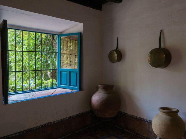 Viana kitchen Day Home Interior Indoors  Kitchen No People Pans Shutters Simplicity Spanish Terracotta Pots Window
