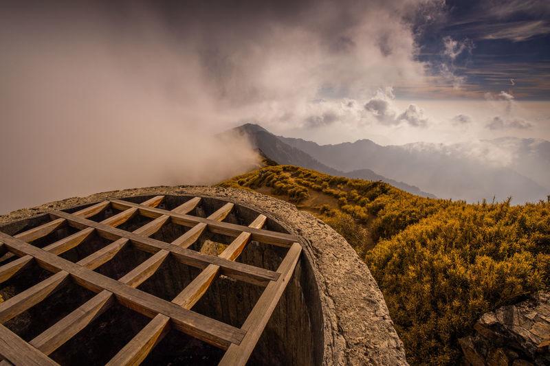 High mountains and clouds in hehuan mountain, nantou, taiwan