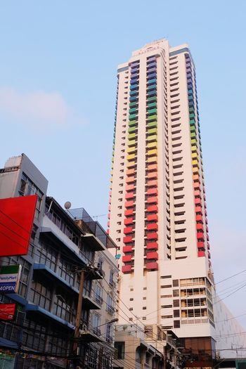 baiyoke tower rainbow building Baiyoke Baiyoke Tower Baiyoketower Outdoors Day Multi Colored Rainbow Colorful Color Architecture Tower High Metropolis The Architect - 2017 EyeEm Awards