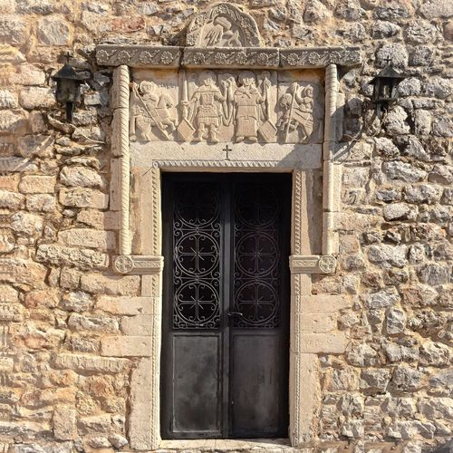 Church entrance Built Structure Architecture Building Exterior Building Window Day No People Entrance Wall - Building Feature Door Old Outdoors Closed Sunlight Wall