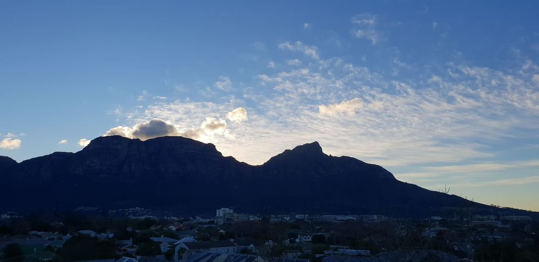 Just before sunset Mountain Pinaceae Sky Cloud - Sky Mountain Range