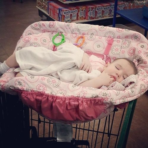 When I said we were gonna shop til we drop she took it literally. Christmastreeshops Sleepingbeauty