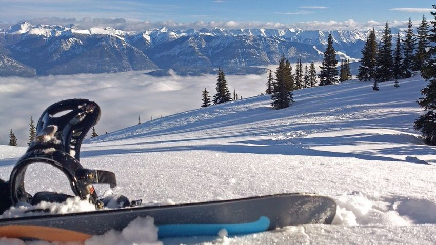 What Does Freedom Mean To You? A mountainside, fresh snow, and a board