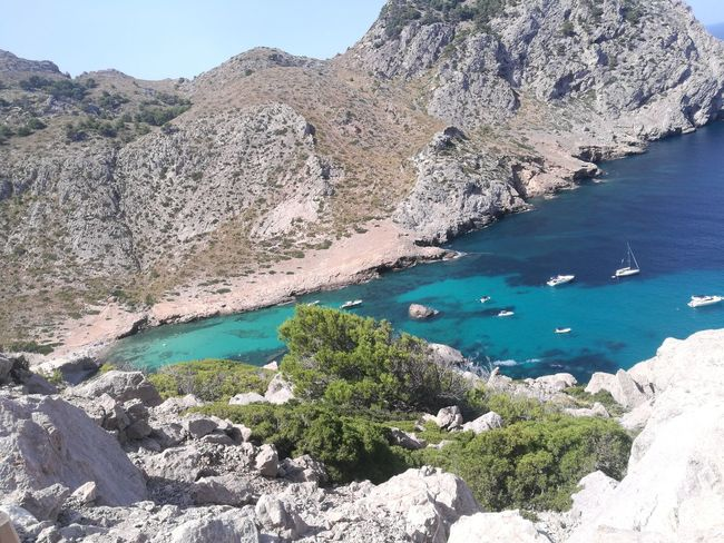Mallorca Beach Sea Water Nature Outdoors Mountain Travel Destinations Beauty In Nature Vacations Mallorcaisland Capformentor Formentor Eauclaire HuaweiP9 Huawei P9 Leica HuaweiP9Photography