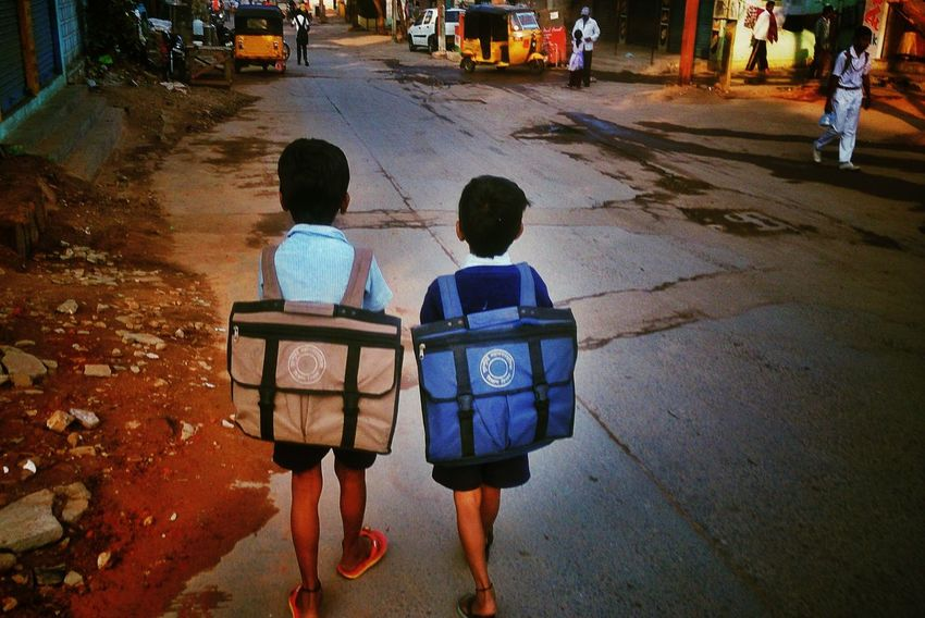 The EyeEm Facebook Cover Challenge remeber the school days where we fight for same things....and whn we get finally...? Streetphotography Brothers Mobile Photography Going To School ...by sony xperia zr....