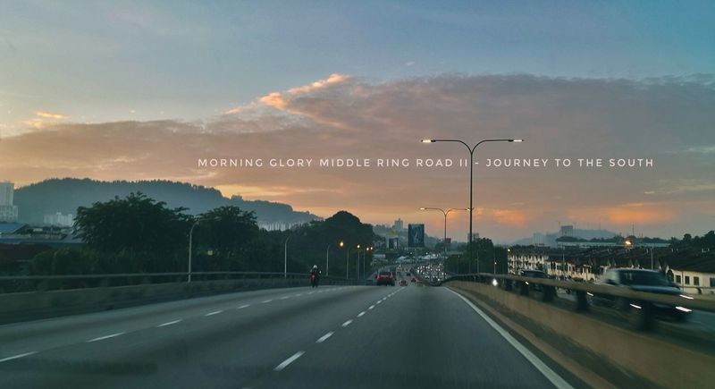 Middle ring road 2. Heading south. Kuala lumpur, Malaysia. Kualalumpur Malaysia Ampang Road Scenery Shots Scene Mornings Hills And Valleys Mountain View first eyeem photo