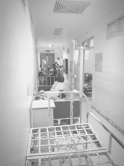 This is a common picture of hopitals here in our country. All rooms are full and even hallways are being utilized. Feeling Down Weak Deppressed