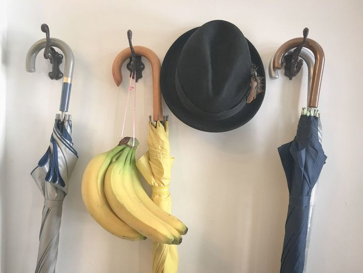 Object Fruit Banana Things Umbrella Hanging Hat Cap