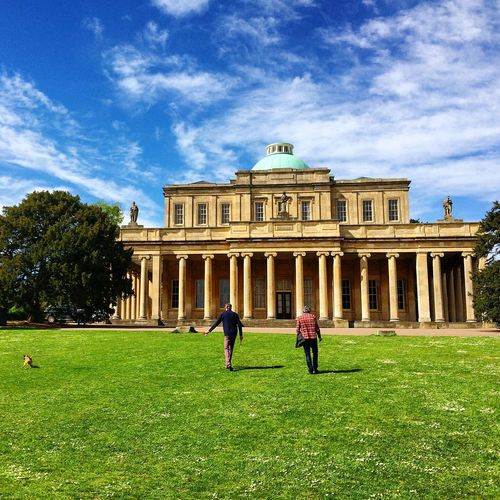 Cheltenham Pump Room Pittville Garden Men Dog Park Architecture Historic Outdoor