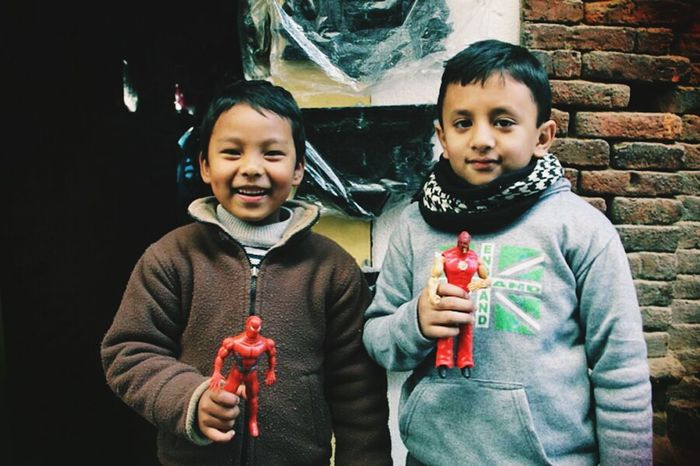 Nepali Boys Patan Kathmandu Valley Nepal
