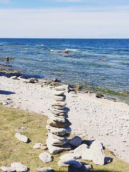 Gotland Hoburgen Sea And Sky Sea Stonepile Vacation Enjoying Life Stone Nature Photography Nature Naturelovers Summer