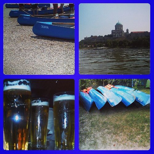 Canoe Trip on the Danube Scene Basilica drinking beer fun friends boats summer 2013 instagood