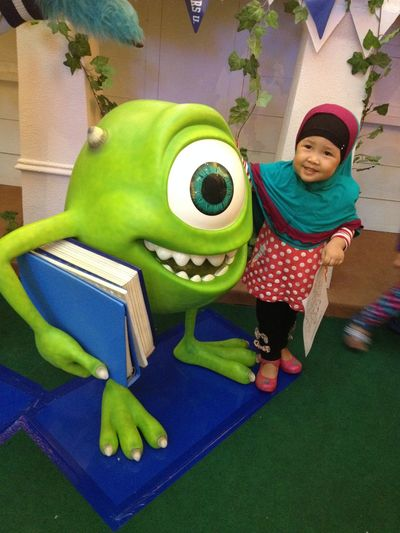 Little Girl Asian Girl Cute Girl Smile Mike Wazowski Monsters INC