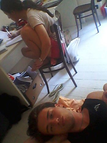 Just Woke Up! Chriss&gio Torino ❤ Summer Summercollection Photooftheday lei studia io vado a cucinare :/