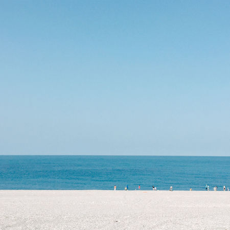 Beach Beauty In Nature Blue Clear Sky Day Horizon Over Water Nature No People Outdoors Sand Scenics Sea Sky Summer Tranquil Scene Tranquility Travel Destinations Vacations Water Live For The Story The Great Outdoors - 2017 EyeEm Awards