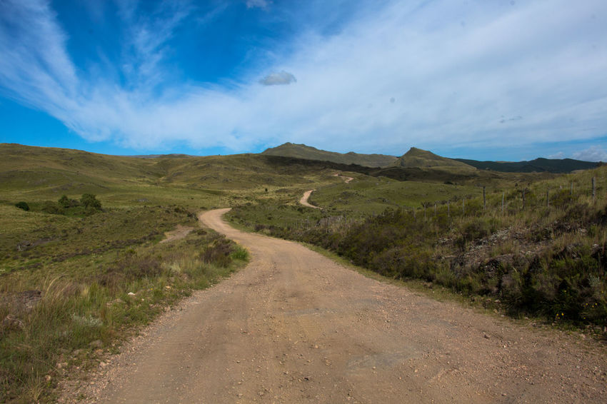 camino de montaña Rural Scenics Panorama Lanscape Travel EyeEm Selects Landscape Cloud - Sky Scenics Sky Beauty In Nature Road Outdoors Nature Mountain No People Day