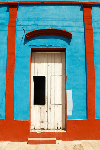 white door ,