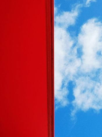 Sky Blue Cloud - Sky Break The Mold Popular Simplicity Forms And Shapes Minimalism Perspective Open Edit Fine Art Photography Abstract Red Colorful Color Block Lines, Colors & Textures Color Blockıng Visual Creativity