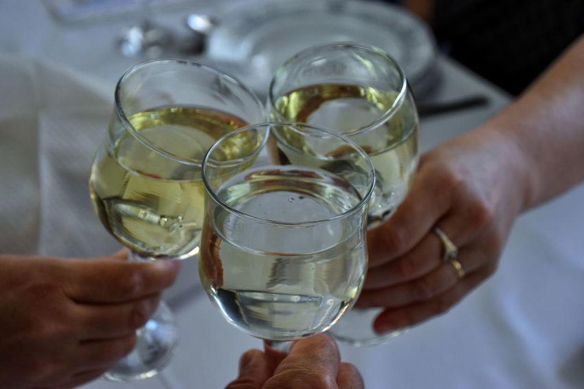 Alcohol Body Part Celebration Celebratory Toast Close-up Drink Friendship Glass Hand Holding Human Body Part Human Hand People Refreshment Wine Wineglass