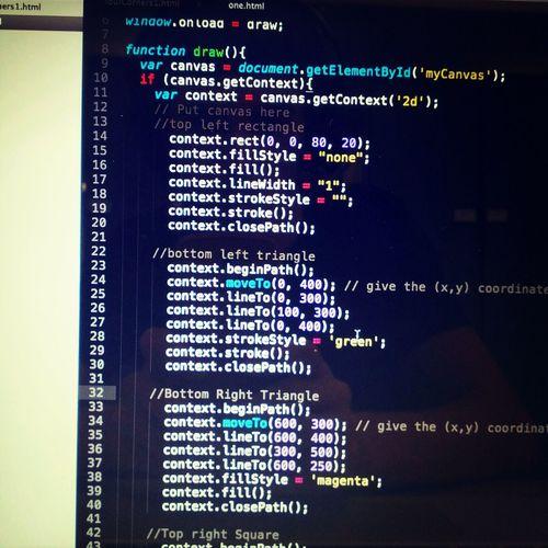 Canvas Sublime Text Coding Javascript