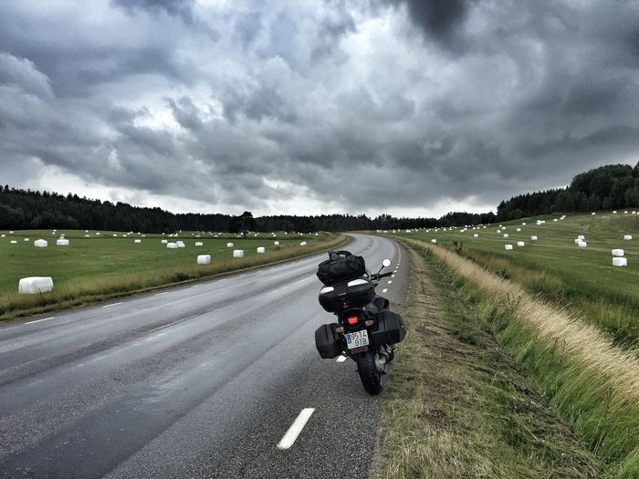 Rider Norway Road Motorcycle Bmwr850r On The Way