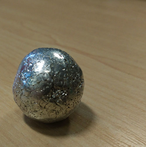 Silver Ball Aluminium Aluminium Foil Silver Foil Metal Ball Rolled Up Silver  Ball