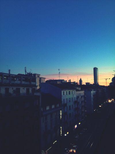 Sunset Milano Pirellone Milano, Grattacielo Pirelli.