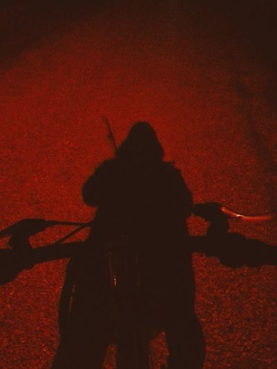 Cycling Ninja :) Tadaa Community Street Light Thats Me  Fishing Waybackhome Shadow Samurai