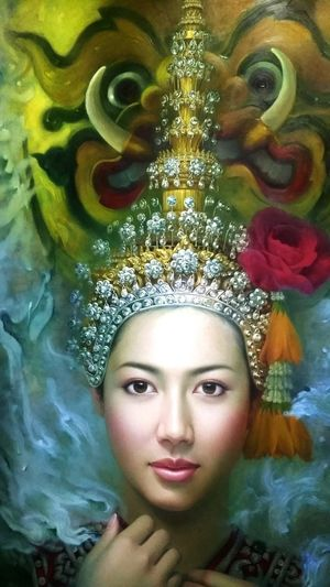 Beautifil girl from Khao Yai Art Museum