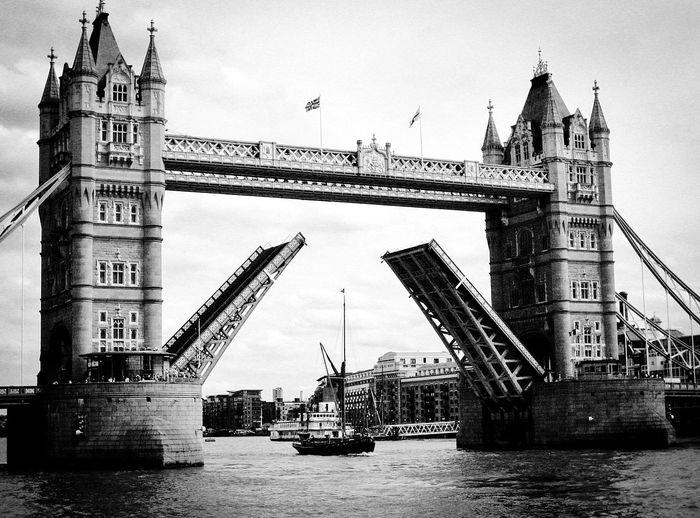Tower bridge across thames river in london