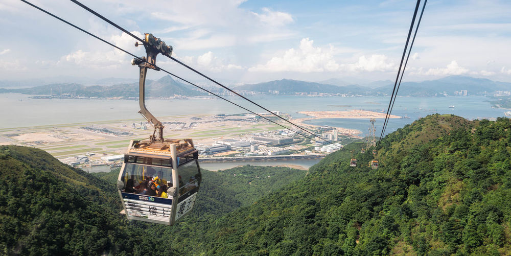 Sky Outdoors No People Day Panoramic Photography Cinematography Panorama Travel Destinations Simple Moment Cable Car Panoramic View