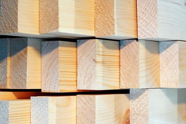 Full frame shot of wooden beams