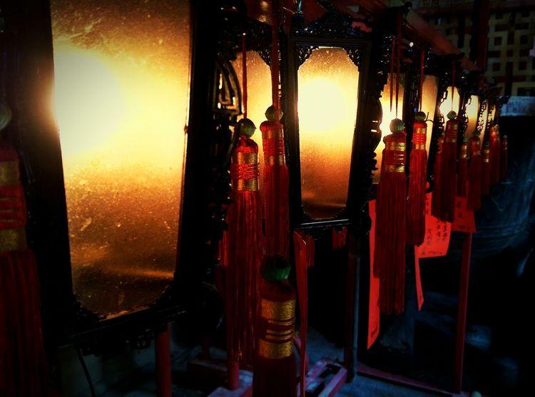 Man Mo Temple Temple Chinese Temple Chinese Lanterns Lantern Tassels Hong Kong Exploring Exploring The City Streets