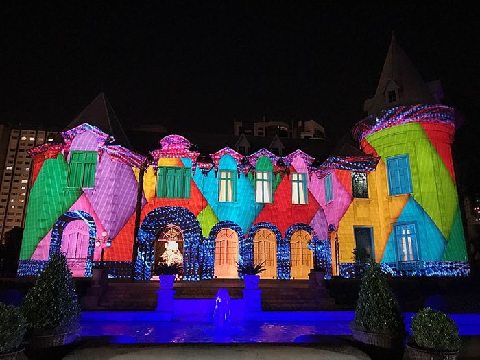 Batel of Castel Batel Castel Castelo Castelo Batel Multicollor Mapping Video Mapping Collors Curitiba, Brazil Illuminated Arquitecture Outdoors Mix Yourself A Good Time