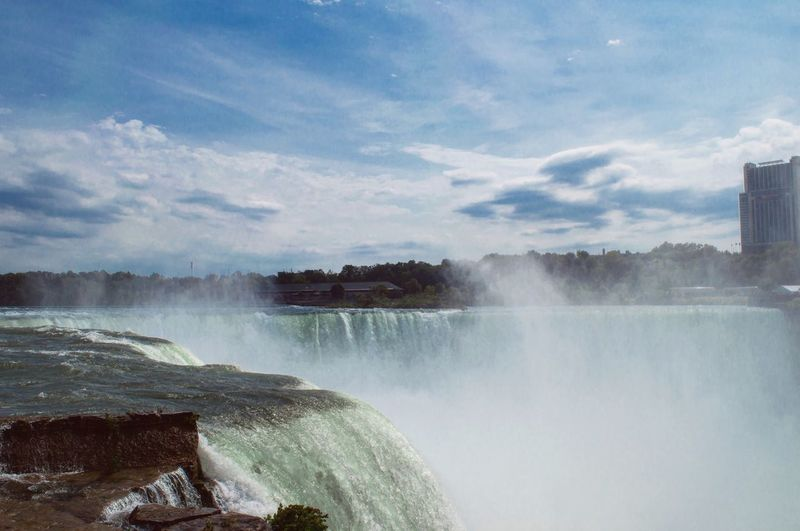 Niagara Falls Waterfall Water Motion Flowing Water Nature Beauty In Nature Power In Nature National Park