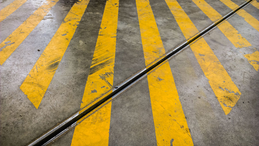 Yellow Road Marking Asphalt Street Transportation Outdoors No People Day Road Close-up LINE