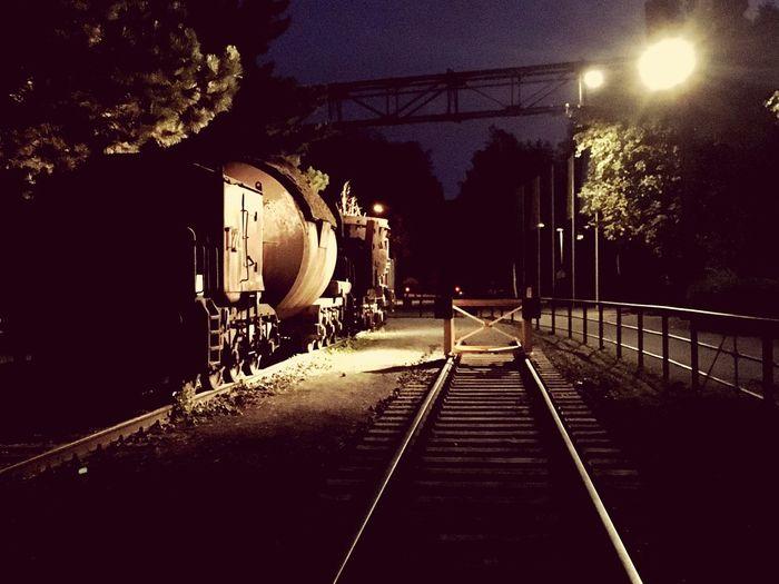 Transportation Illuminated Night No People Nature The Way Forward Rail Transportation Lighting Equipment Outdoors