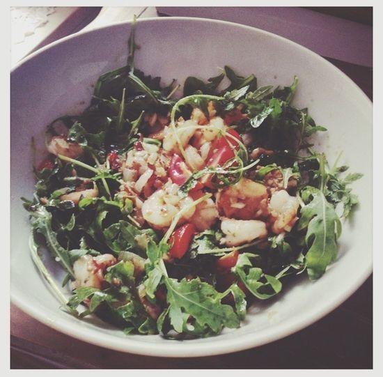 Spicy Dinner Healthy Food Shrimps Salad