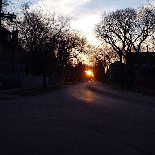IPhone Winnipeg Manitoba Canada Sunrise Beautiful Autumn Morning Urban Photography Streetphotography