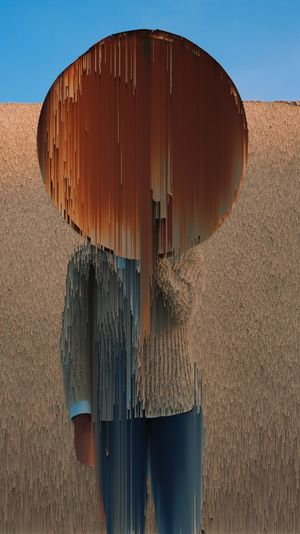 EyeEm Selects Corrugated Iron Glitch Man Of Steel